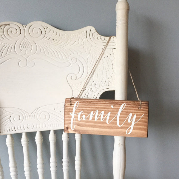 Family Hanging Sign, Small Family Sign, Family Portrait Sign