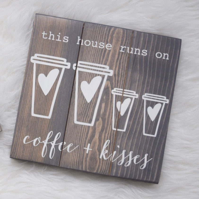 Coffee & Kisses, This House Runs on Coffee, Coffee Lovers, Gilmore Girls, Mothers Day Gift, Luke's Cafe, Coffee Lovers, Gifts for Her