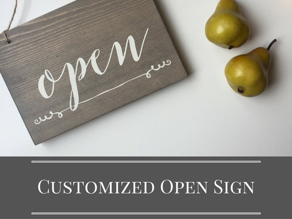 Customizable Open & Closed Sign, Storefront Sign, Studio Decor, Yoga Studio Decor, Studio Open Sign, Small Open Sign, Open Closed Sign