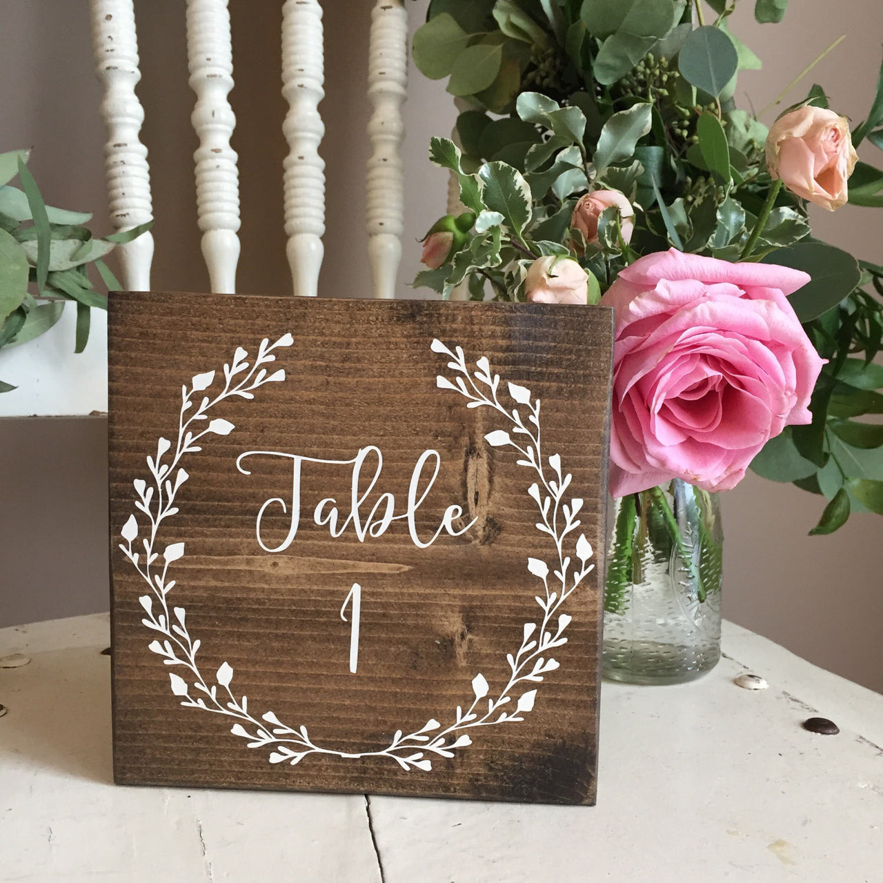 Wedding Table Numbers, Wooden Table Numbers, Handpainted Table Numbers, Woodland Table Number, Boho Wedding Decor, Rustic Table Numbers