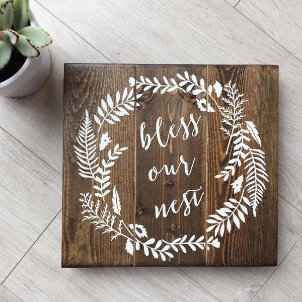 Bless Our Nest Sign, Blessed Home Decor, Our Nest Decor, Mothers Day Gift, Housewarming Gift, Wedding Gift, Our Nest Sign