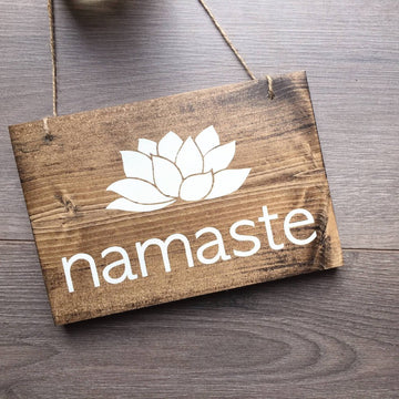 Namaste | Hanging Wood Sign