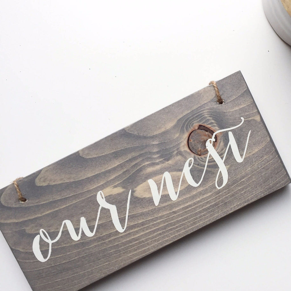 Our Nest Sign, Our Nest Decor, Housewarming Decor, New Home Gift, Love Lives Here, Bless Our Nest, Housewarming Gift, Housewarming Present