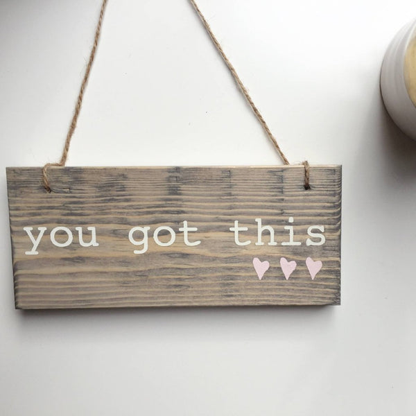 You Got This Sign, You Got This, Boss Babe Sign, Babe Cave Sign, Maker Wall Sign, Meditation Station, Meditation Room, Hustle Sign, Hustle