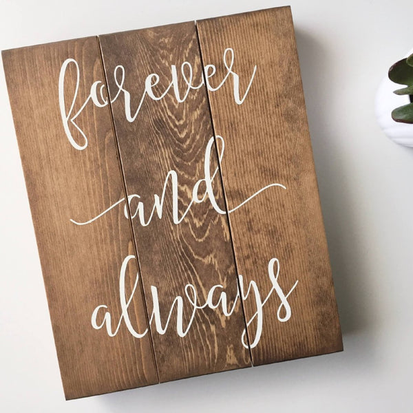 Forever and Always Handlettered Sign, Forever and Ever, Wedding Gift Sign, Woodland Wedding, Woodland Wedding Decor, Wedding Photo Prop