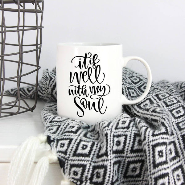 It Is Well With My Soul Mug, Mugs for Her, Simple Mugs, Yoga Mugs, Mugs for Yogis, Yoga Decor, Yoga Gift, Gift for Her, Mothers Day Gift