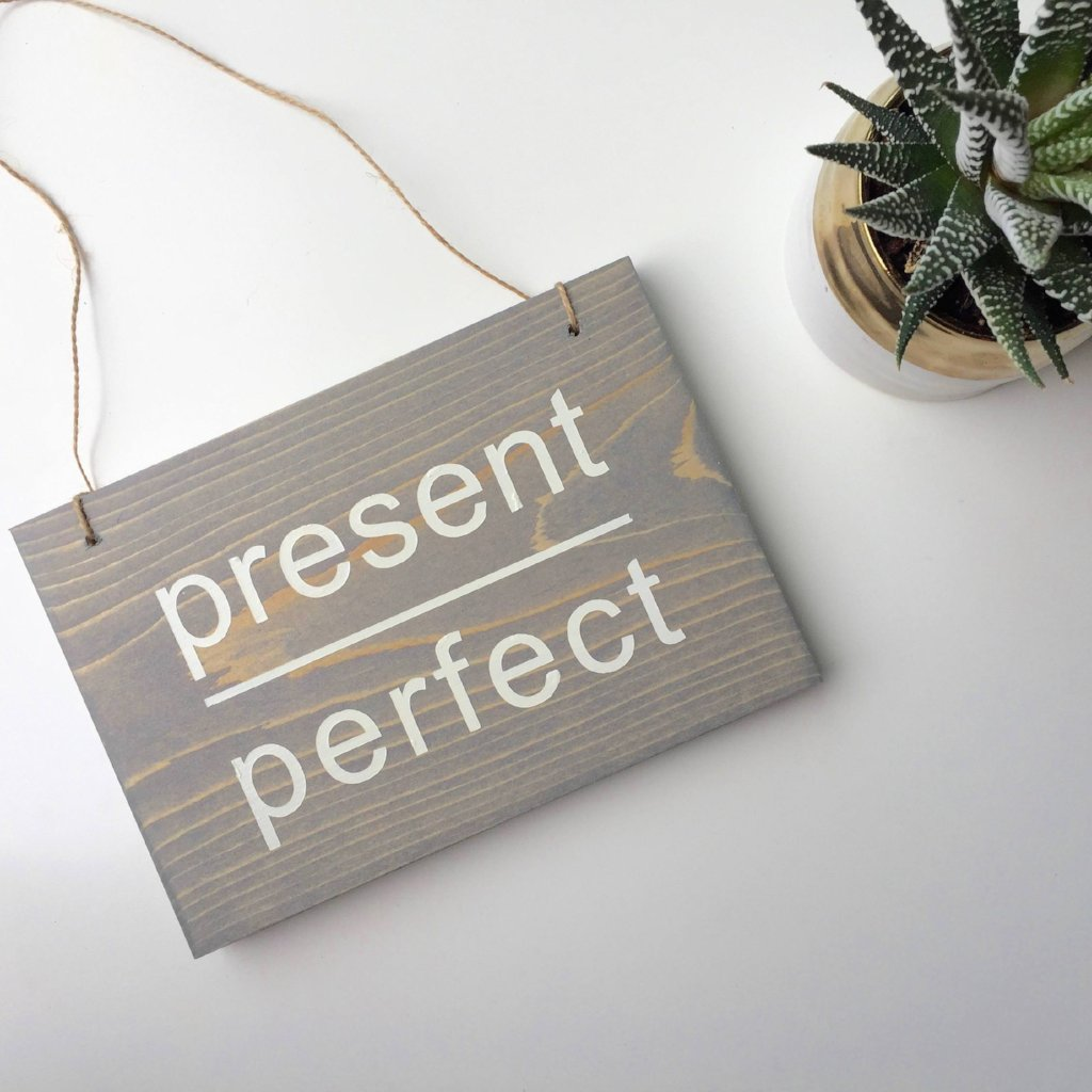 Present Over Perfect Sign, Yogi Sign, Yoga Sign, Namaste Sign, Yoga Decor, Yoga Studio Decor, Yogi Decor, Mothers Day Gift