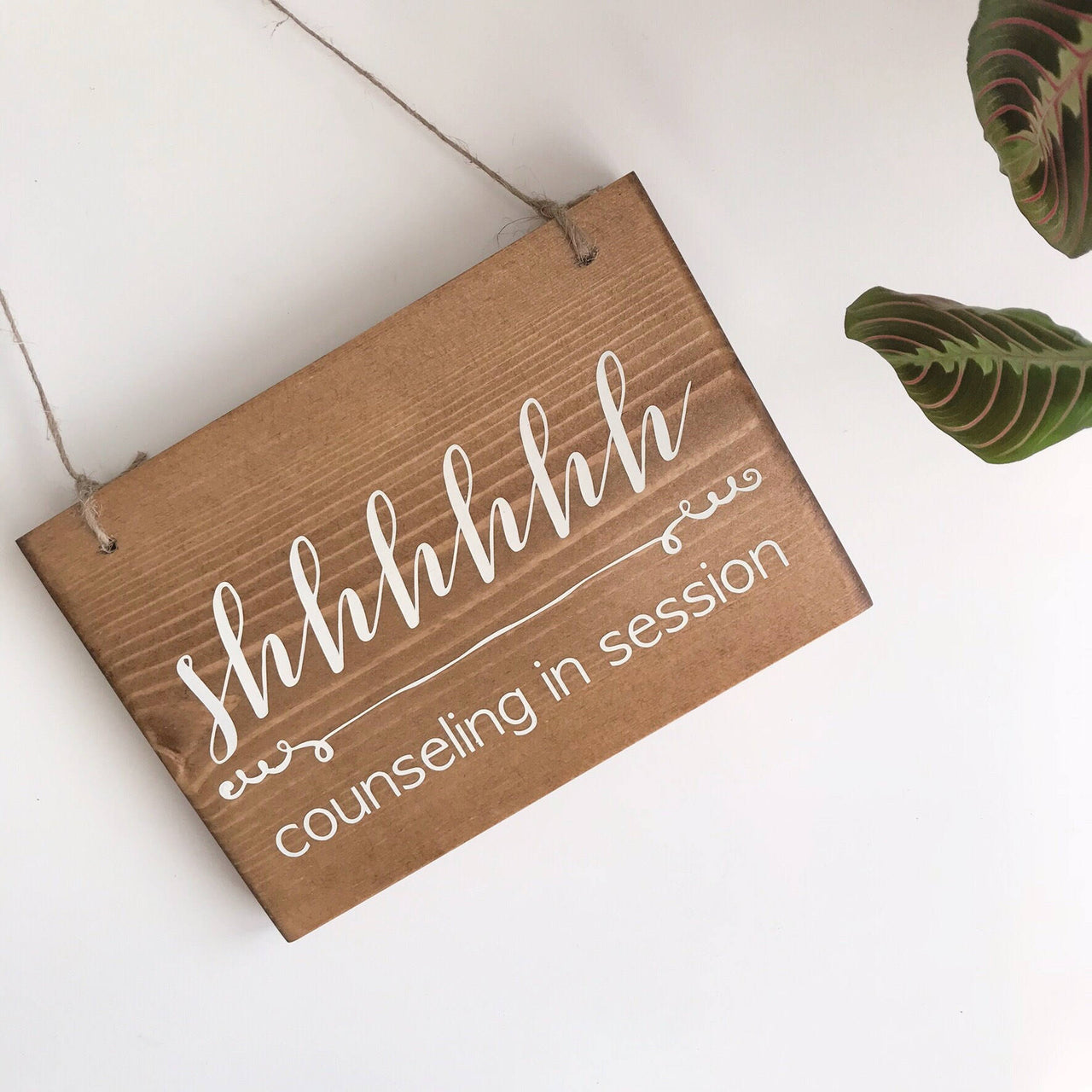 counseling in session hanging sign allybeth design co