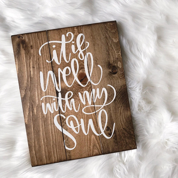 It Is Well With My Soul, Yoga Sign, Yoga Girl Sign, Yogi Sign, Yoga Studio Decor, Yoga Decor, Namaste, Namaste Decor, Mothers Day Gift