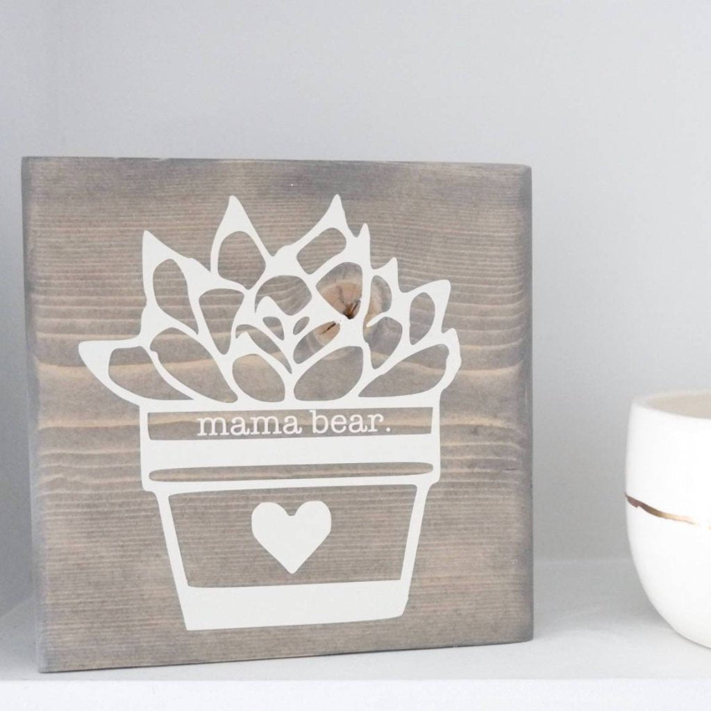 Mama Bear Sign, Mama Bear Desk Sign, Mama Bear Return to Work Sign, Mama Sign, Cute Mama Sign, Succulent, Mothers Day Gift, New Mom