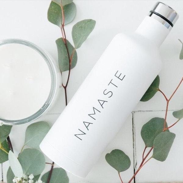 Namaste Water Bottle, Namaste Tumbler, Namaste Mug, Yoga Mug, Yoga Tumbler, Yoga Travel Mug, Yoga Gift, Mother's Day Gift