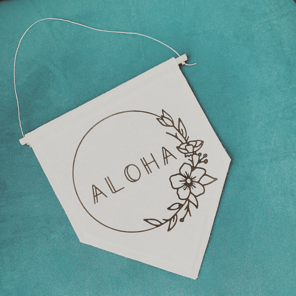 Aloha Canvas Banner, Hawaii Wall Decor, Hawaiian Wall Decor, Hawaii Life, Beach House Decor, Aloha Wall Decor, Aloha Sign, No Bad Days Decor