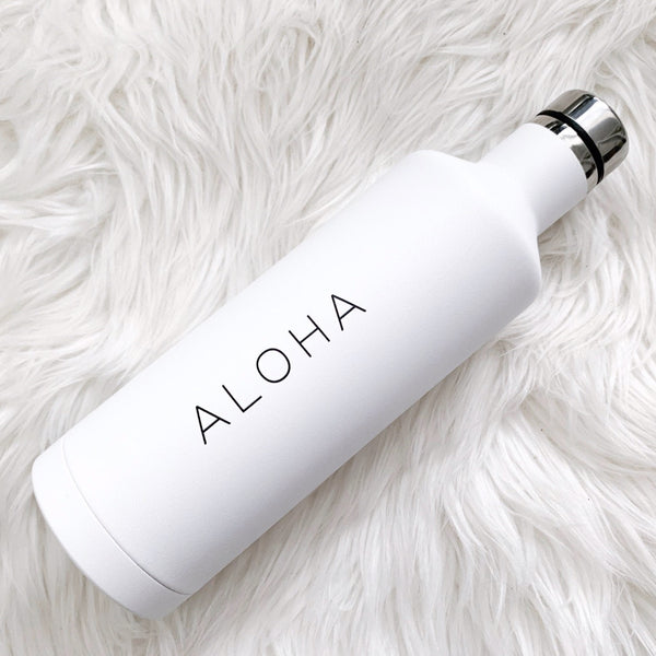 Aloha Insulated Water Bottle, Hawaii Water Bottle, Hawaii Travel, Wanderlust, Hawaiian Vibes, Hawaiian Decor, Stainless Steel Water Bottle