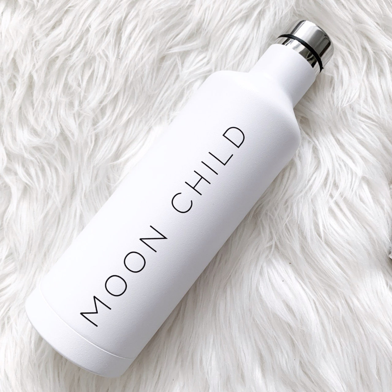Moon Child Insulated Water Bottle | White Water Bottle