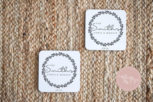 Custom Wedding Coasters, Custom Gift for Her, Groom Gift, Wife Gift, Unique Wedding Gift,  Custom Housewarming Gift, Custom Anniversary Gift