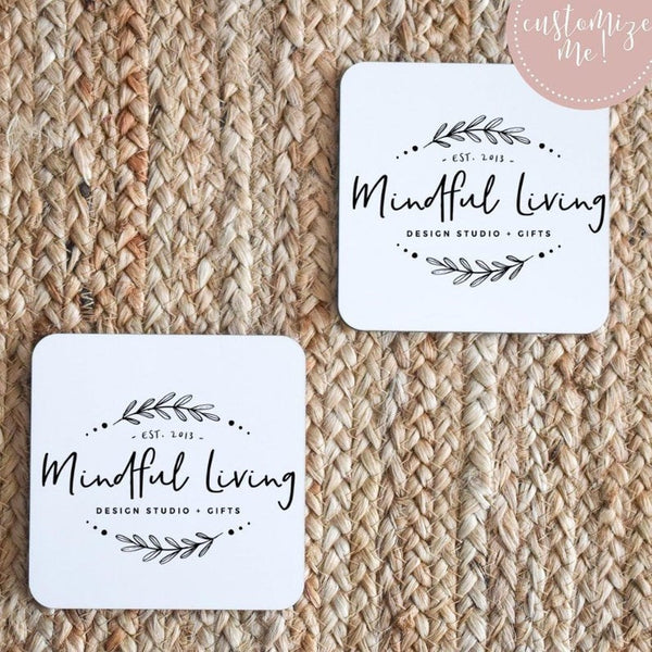Custom BUSINESS LOGO Coasters, Market Swag Items, Company Promo Items, Giveaway Items, Office Decor, Custom Logo Decor, Logo Accessories