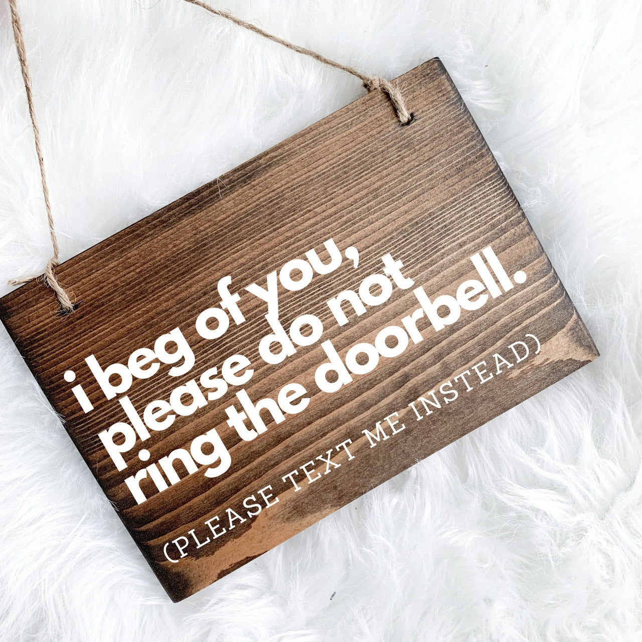 Please Text Me Door Sign, Do Not Ring Bell Door Sign, Please Don't Knock Front Door Sign, Funny Front Door Sign, Do Not Ring Sign, Door Sign