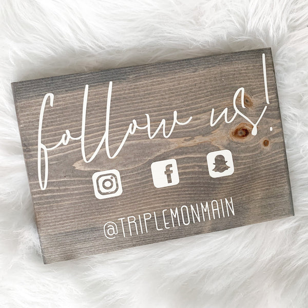 Follow Us on Social Media Sign | Small Business Sign