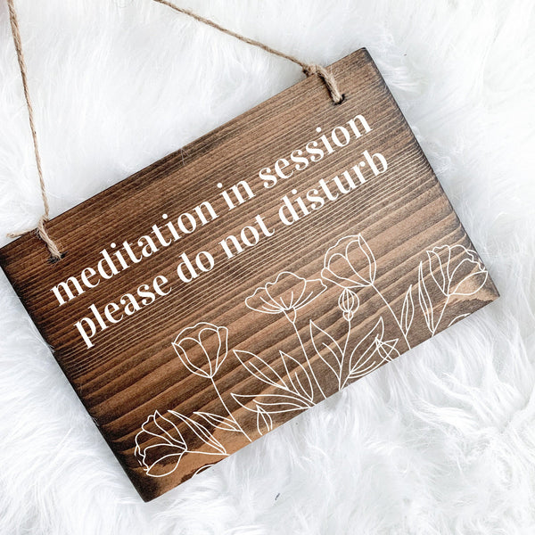 Meditation in Session Sign, Meditation Sign, Meditation Room Sign, Yoga in Session Sign, Yoga Studio Decor, Open and Closed Sign, Yoga