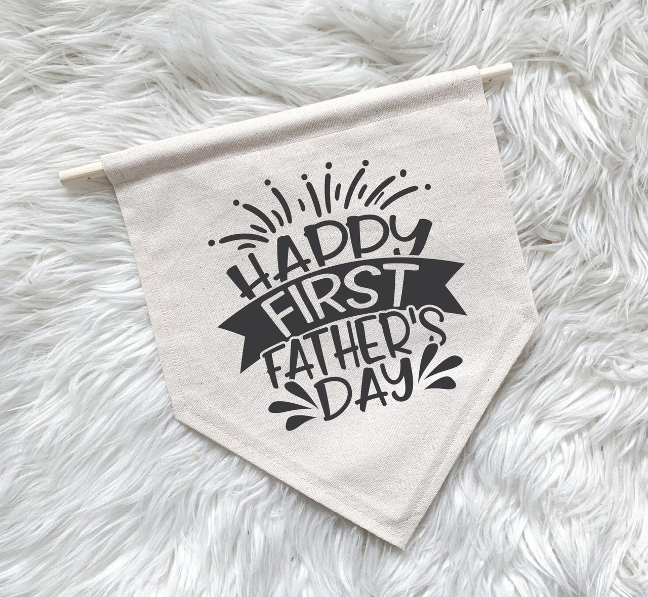 Happy First Father's Day Banner | Canvas Banner