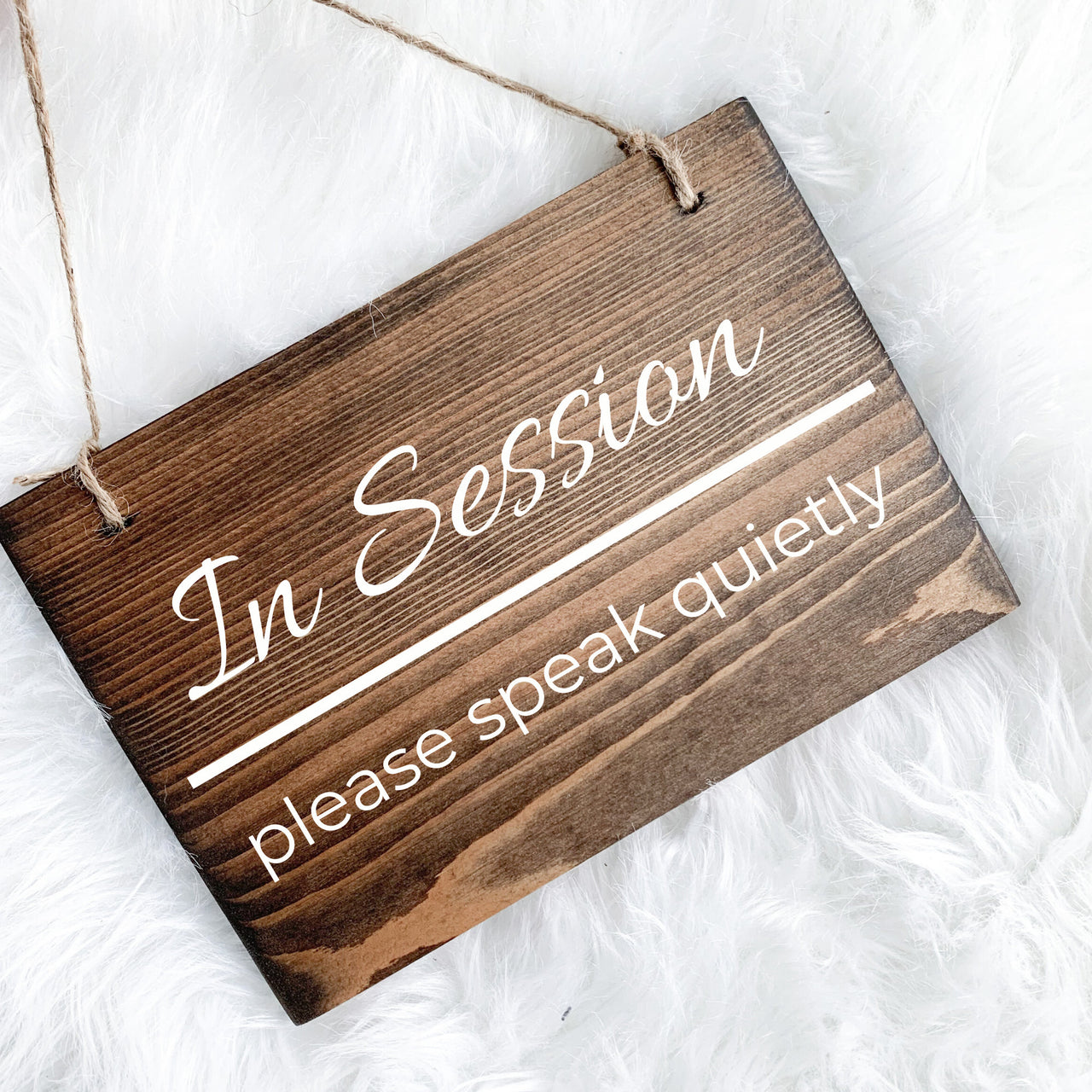 In Session Please Please Speak Quietly Sign, In Session Sign, please do not disturb sign, Treatment in Session, Closed Sign, With a Client