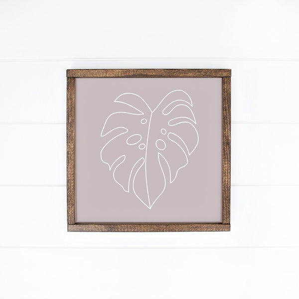 Minimalist Monstera Leaf Sign, Tropical Leaf Decor, Monstera Leaf Sign, Tropical Leaves Print, Banana Leaves Decor, Hawaii Art, Plant Art