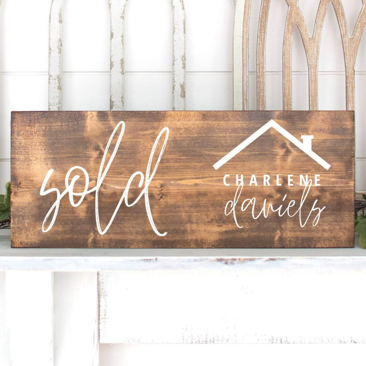 Cursive Custom Sold Sign | Realtor Sign