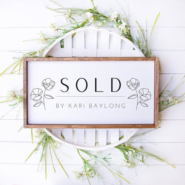 Real Estate Agent Sold Sign, Realtor Sold Sign, New House, Real Estate Agent Sign, New Realtor Sign, Realtor Prop Sign, Cute Sold Sign