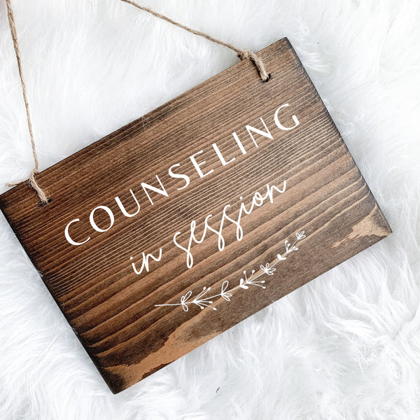 Counseling In Session Sign, Open and Closed Sign, Open Sign, Do Not Disturb Sign, Therapy In Session, In Session Sign Therapist, Therapist