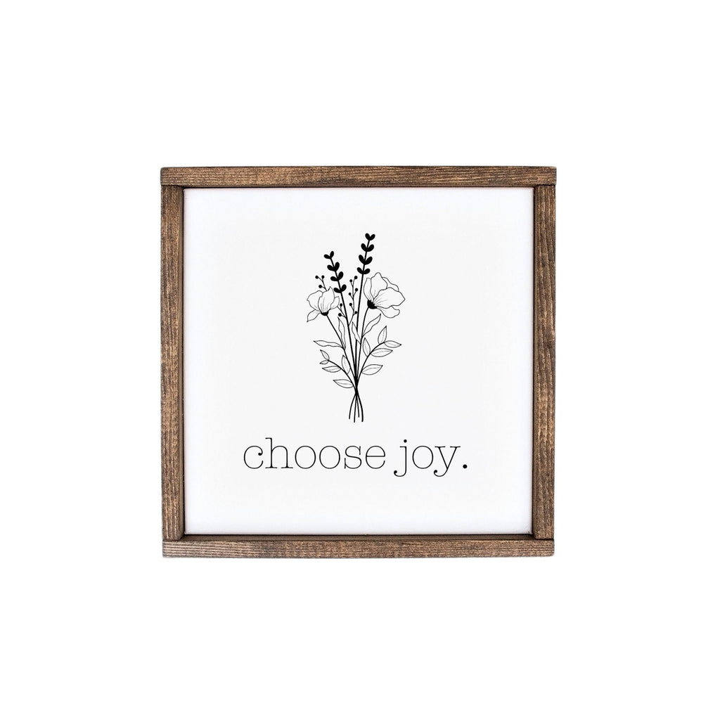 Choose Joy Floral Wood Sign, Choose Joy Sign, Inspirational Sign, Minimalistic Sign, Minimal Floral Sign, Minimal Flower Drawing, Flower Art