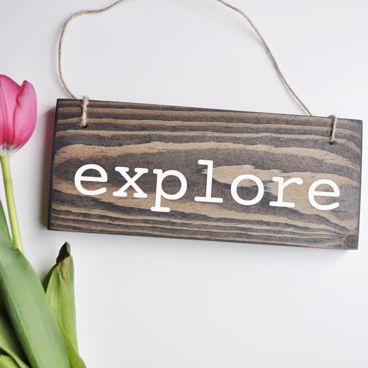 Explore Hanging Sign