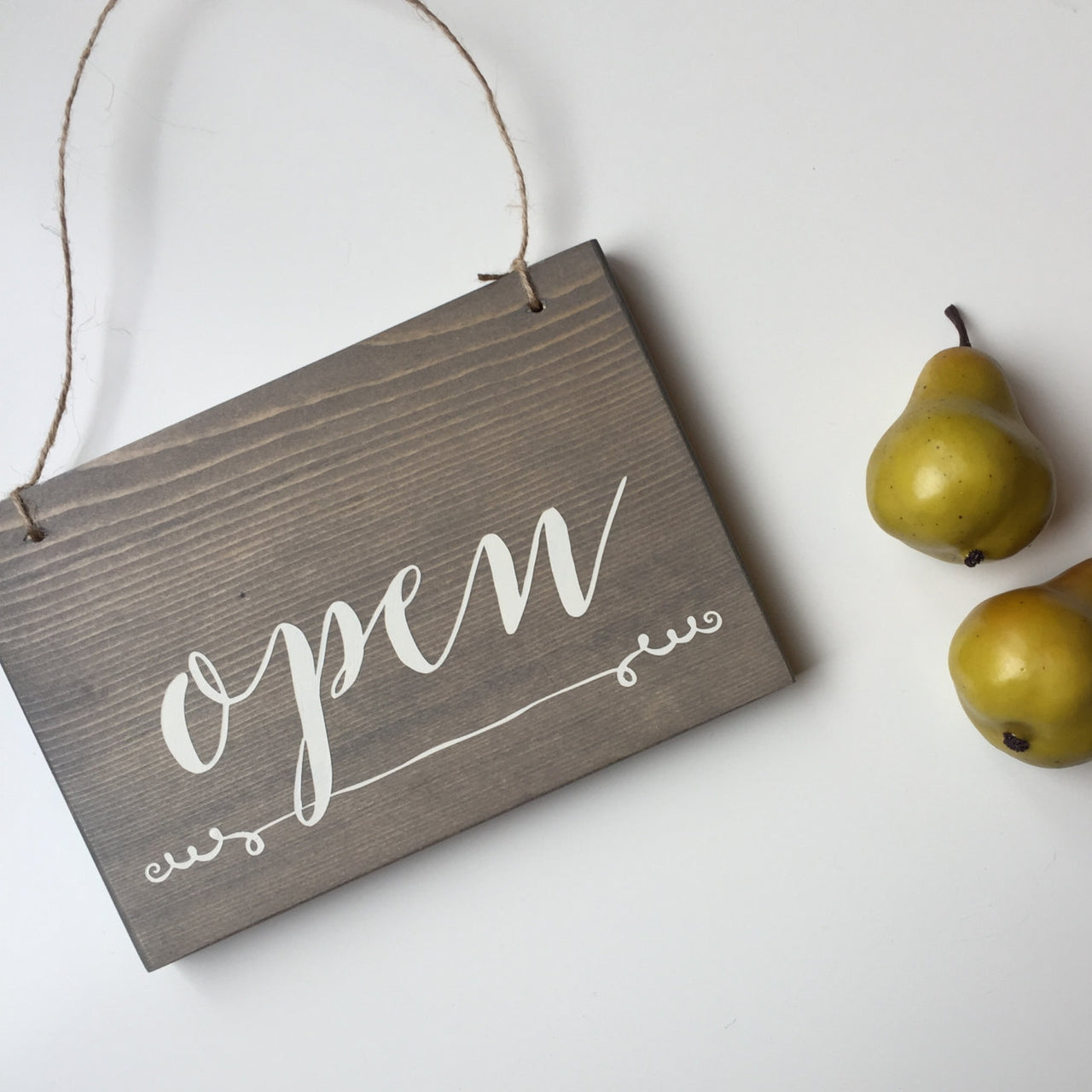 Reversible Open & Closed Sign, Do Not Disturb, Open and Closed Sign, Yoga Studio Decor, Studio Open Sign, Open Closed Sign, In Session Sign