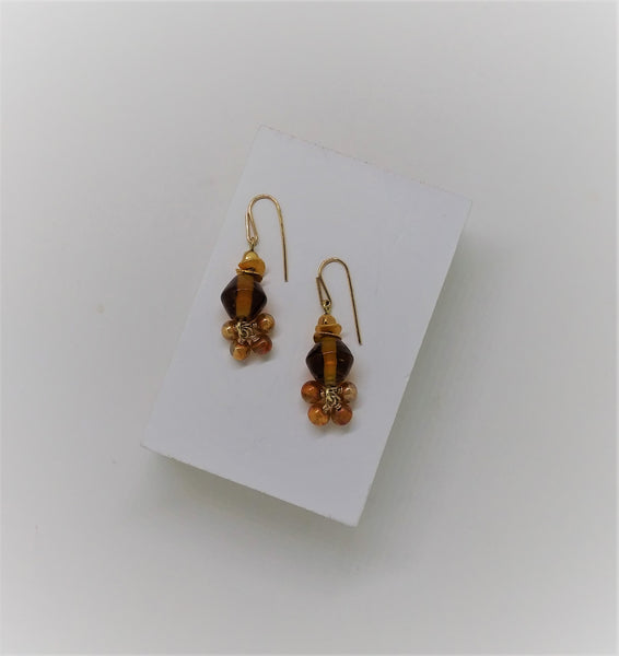 Amber Bauble Earrings