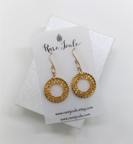 Gold Circle Gleam Earrings