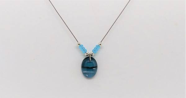 Sky Blue Pendant Necklace