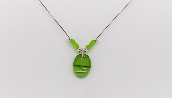 Spring Green Pendant Necklace