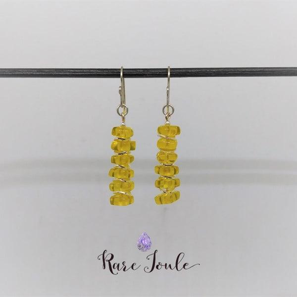 Yellow and Silver Celebration Earrings