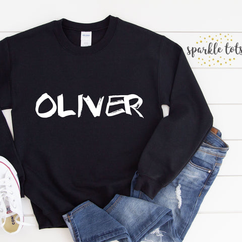 Kids custom name jumper sweatshirt