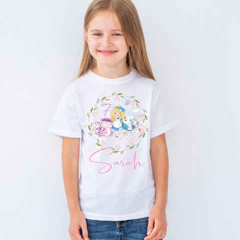 Girls personalised holiday shirt - travel - holiday