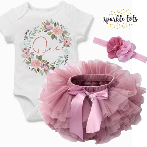 Boho 1st birthday outfit