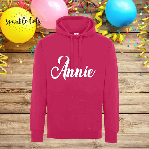 Girls personalised name hoodie