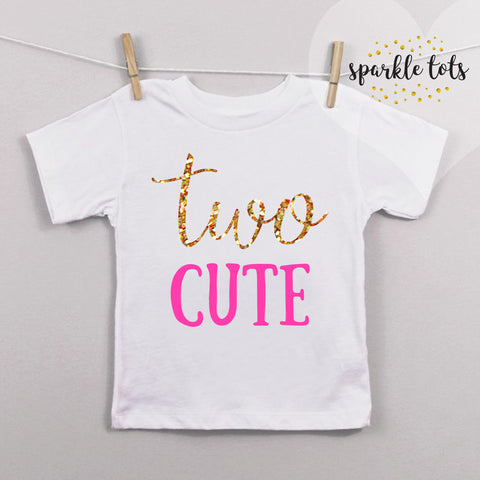 TWO Cute Birthday Shirt - 2nd Birthday Shirt