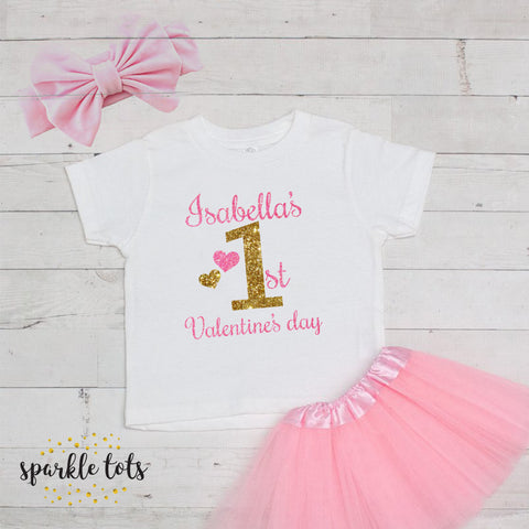 girls 1st valentines day outfit