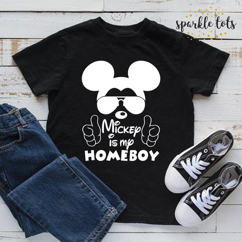 mickey is my homeboy, boys disney shirt, Toddler shirt