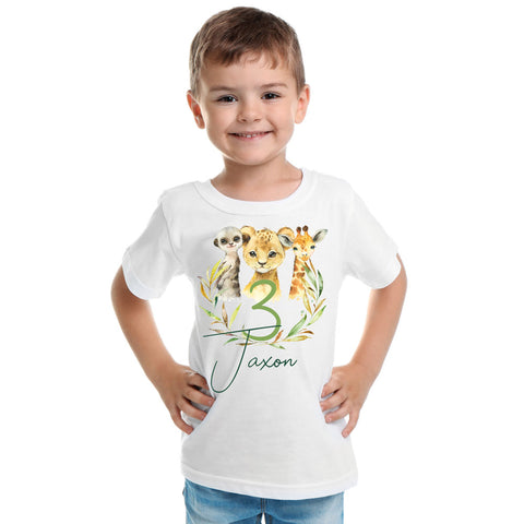 Boys safari birthday t-shirt