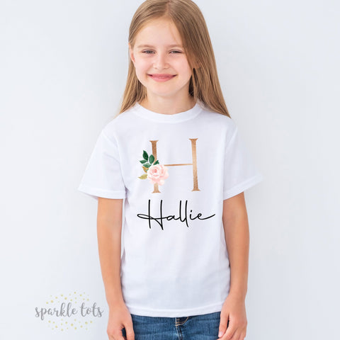 Girls personalised t-shirt