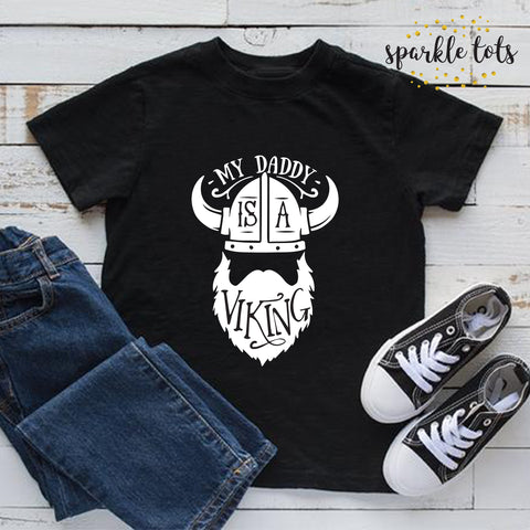 My Daddy is a Viking Bodysuit, funny boys clothing, funny boys shirt