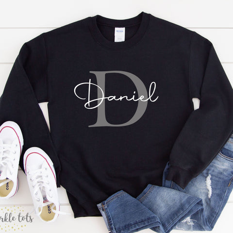 kids personalised sweatshirt