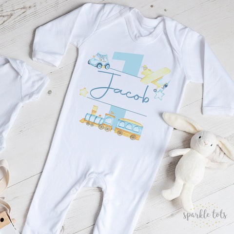 1st birthday sleepsuit
