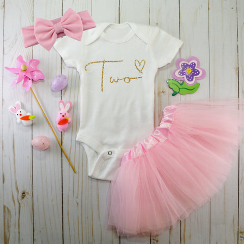 Girls 2nd birthday outfit
